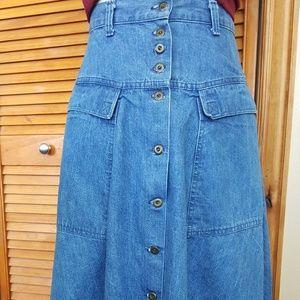 1980s Candies Denim Skirt